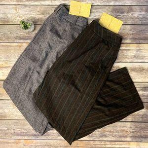 NWT Dialogue QVC  Striped Herringbone Dress Pants
